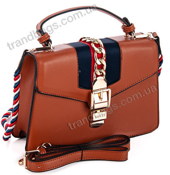 Женская сумка 870-1 brown Брендовые женские сумки c5226acd0e7ef