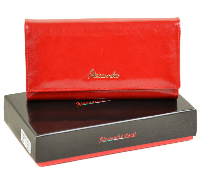 070cb2f970e1 Женский кожаный кошелек ALESSANDRO PAOLI W46 red кожаные кошельки оптом  Одесса 7 км