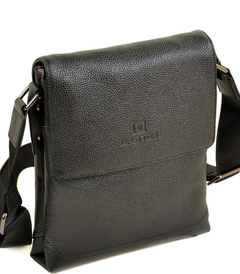 ba14fb7d0bf4 Мужская кожаная сумка BRETTON 508-2 black Сумки мужские на плечо из  натуральной кожи