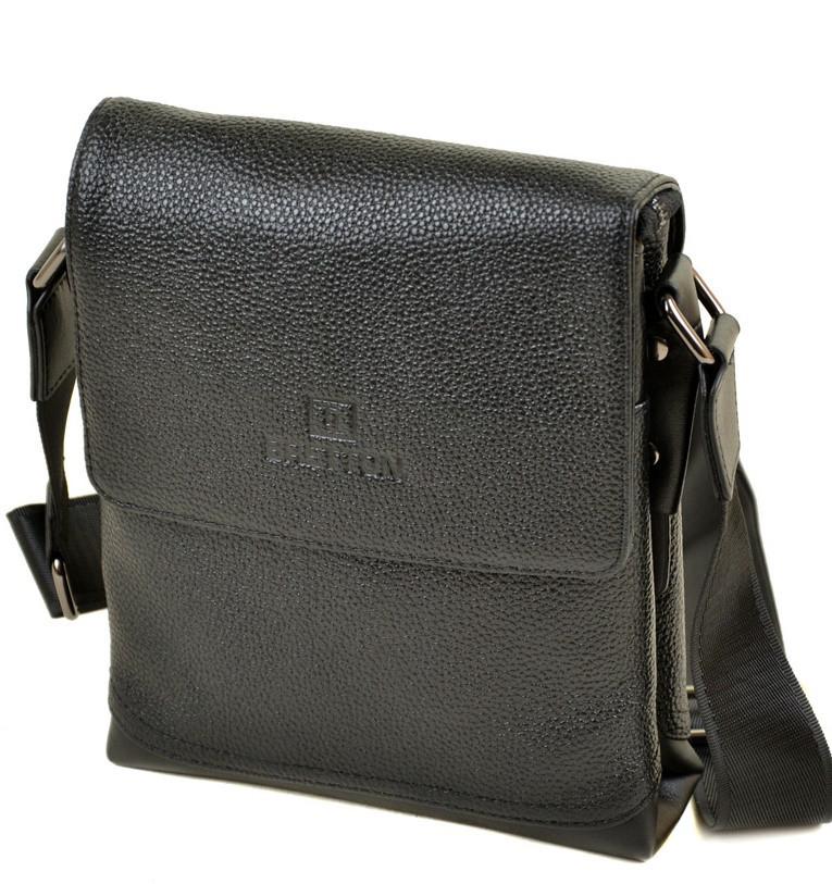 7da8c1899c30 Мужская кожаная сумка BRETTON 508-1 black Сумки мужские на плечо из натуральной  кожи