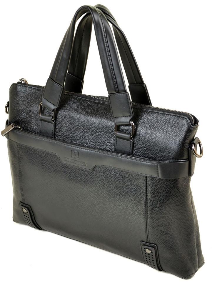 d54dcb69636f Мужская кожаная сумка 603 black деловая мужская сумка кожа, сумка портфель  купить в Одессе 7 км