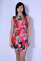 Платье женское красное лето 2570
