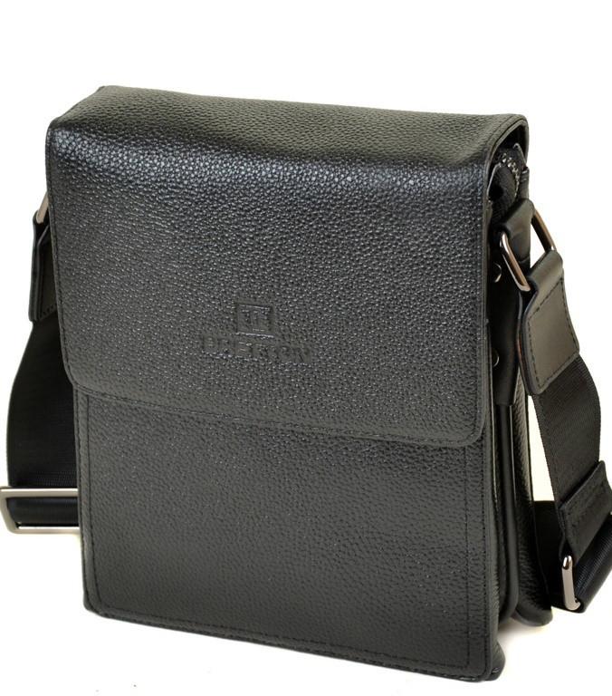 8a48330738ea Мужская кожаная сумка BRETTON 503-1 black Сумки мужские на плечо из  натуральной кожи -