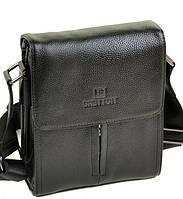 Мужская кожаная сумка BRETTON 501-1 black Сумки мужские на плечо из натуральной кожи