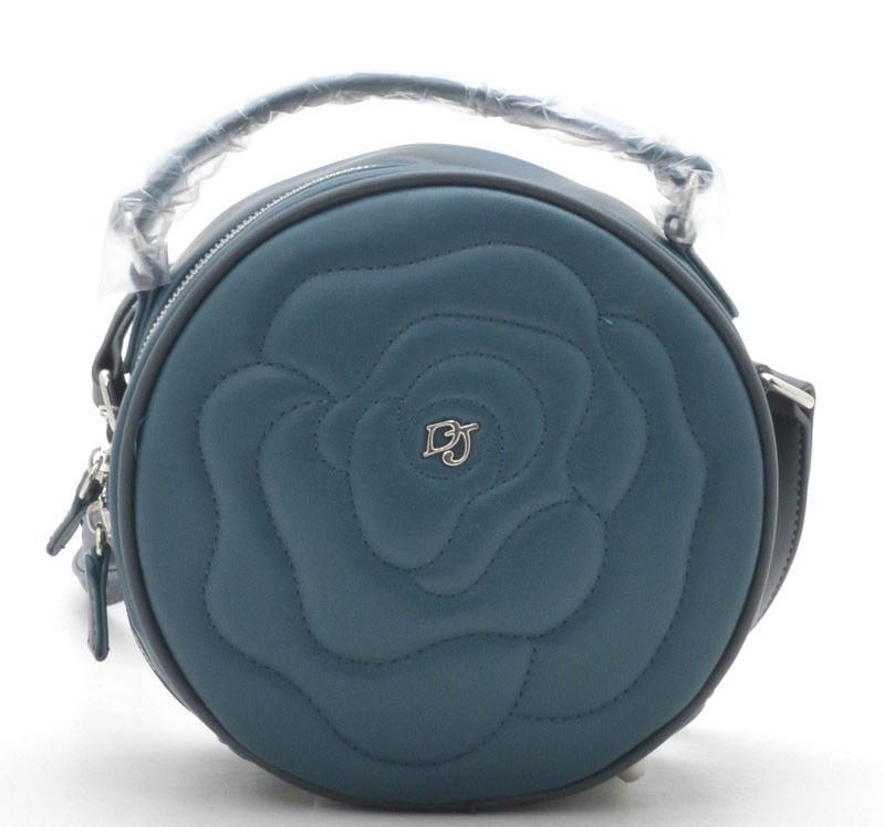 12c0ecdbf651 Круглый женский клатч David Jones CM3956 p. blue т. бирюза Женские клатчи  сумки через плечо, женские клатчи