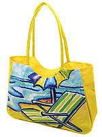 064fc1764d92b Женская пляжная сумка 1328 yellow печать печать пляжные сумки, пляжные  корзинки недорого Одесса 7 км