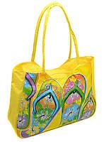 876e41fd43e89 Женская пляжная сумка 1327 yellow печать печать пляжные сумки, пляжные  корзинки недорого Одесса 7 км