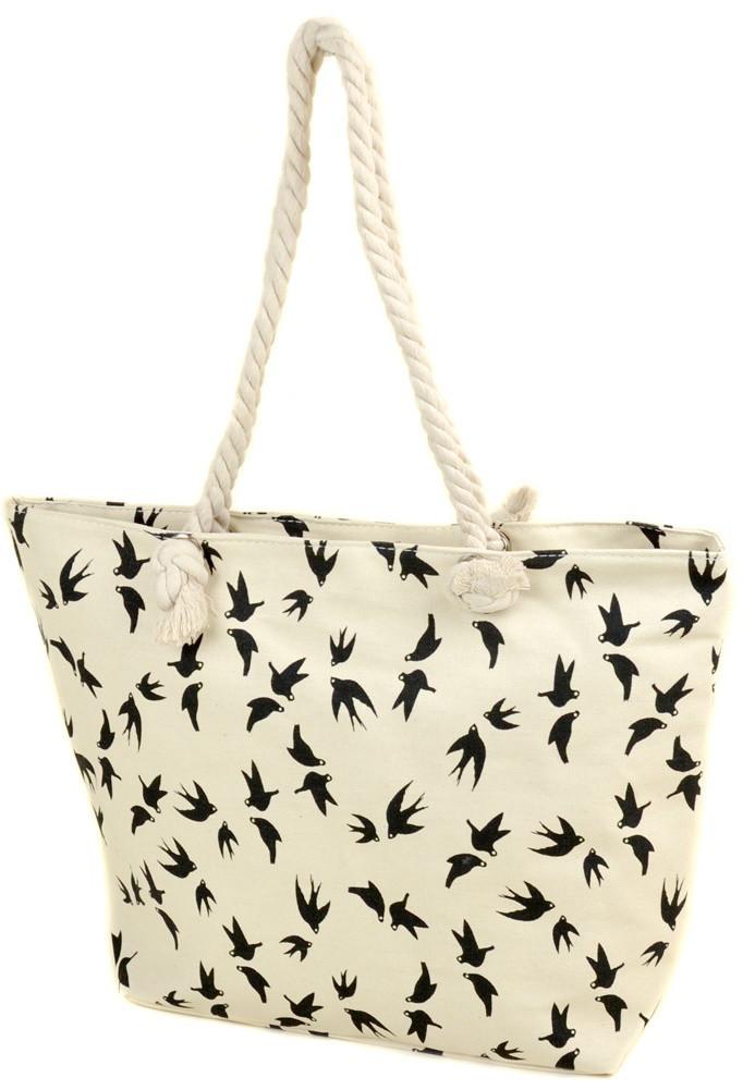 68a033456997 Женская пляжная сумка 2019-1 white ласточка печать печать пляжные сумки,  пляжные корзинки недорого Одесса 7 км