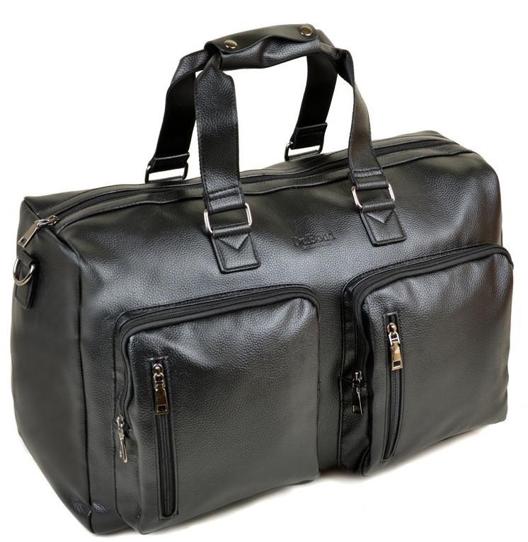 1853895b71f2 Мужская дорожная сумка DR. BOND 8713 black купить недорого дорожную сумку  искусственная кожа