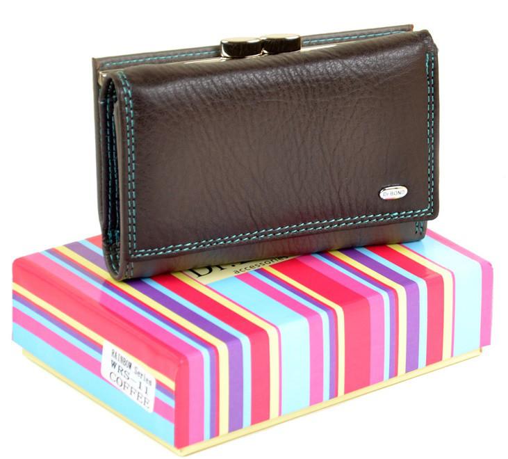 ede78369ec80 Женский кожаный кошелек DR. BOND WRS-11 coffee купить женский кожаный  кошелек - Интернет