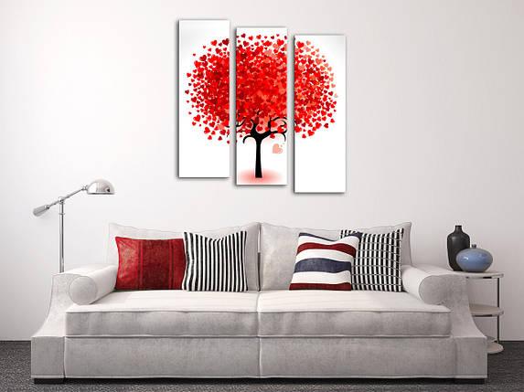 "Модульная картина ""Дерево из сердец"", фото 2"
