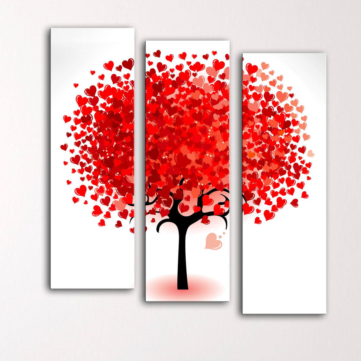 """Модульная картина """"Дерево из сердец"""""""