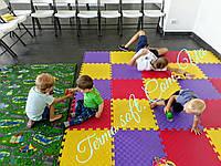 Игровой коврик для детской комнаты. Коврик-пазл 50*50*1см