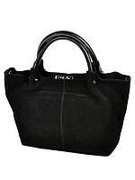 5d1fd4d24494 Сумка Женская Классическая кожа-замш 8649-3 black купить женскую сумку