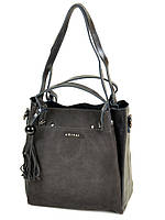 6415fa96d12a Сумка Женская Классическая кожа-замш 322-1 grey купить женскую сумку
