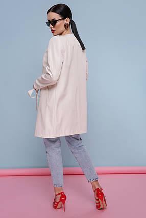 Модный женский плащ  бежевый цвет Размеры 42, 44, 46, 48, 50, 52, фото 2