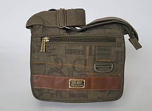 Сумка-почтальон брезентовая с широким плечевым ремнем