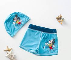Комплект c UPF 50+  плавки и шапочка для плавания Микки Маус, Disney