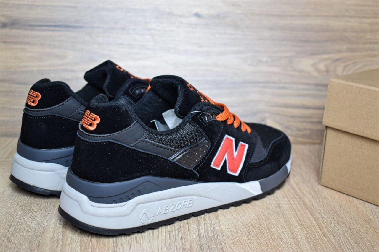 ... Мужские кроссовки в стиле New Balance 998 черные с оранж замша сеткаа  96e1094050aec