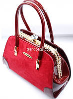 Женская лакированная сумка K-91805 red купить женскую лакированную сумку, фото 1