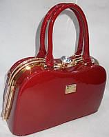 Женская лакированная сумка 91747 Red купить женскую лакированную сумку, фото 1