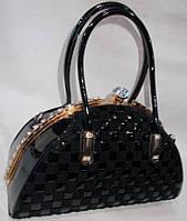 Женская лакированная сумка 874 Black купить женскую лакированную сумку, фото 1
