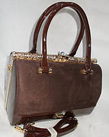 Женская лакированная сумка 601 Coffee купить женскую лакированную сумку, фото 1