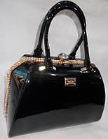 Женская лакированная сумка 8008 Black купить женскую лакированную сумку, фото 1