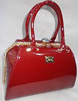 Женская лакированная сумка 8008 Red купить женскую лакированную сумку, фото 1