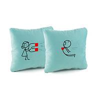 Набор подушек для влюбленных Магнит Голубые (PV_001_fk_dv_a)