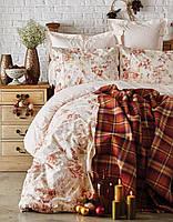 Набор постельное белье с пледом karaca home - arlo orange 2018-2 оранжевый  евро   6d3a2db5ef5ce