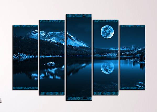 """Модульная картина """"Ночь в горах"""", фото 2"""