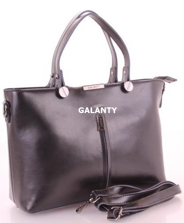 a059ccbfcc45 Женская кожаная сумка Galanty 7004 Black купить кожаную женскую сумку -  Интернет магазин