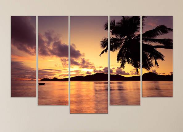 """Модульная картина """"Океанский заккат"""", фото 2"""