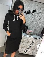 Платье женское с капюшоном (мод. 304) Разные цвета, фото 1