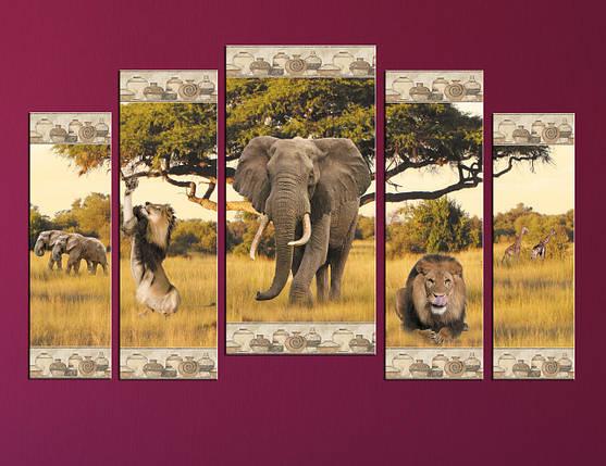 "Модульная картина ""Африканкий слон"", фото 2"