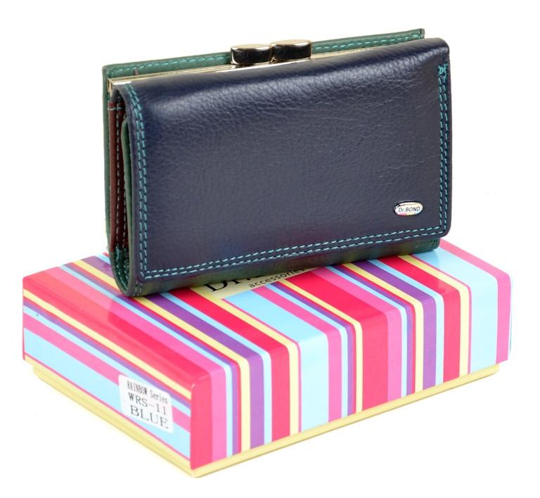 7c04dcaf99df Женский Кошелек Rainbow кожа DR. BOND WRS-11 blue.Купить женский кожаный  кошелек