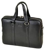 Сумка Мужская Портфель кожаный BRETTON BE 9318-2 black.Купить мужскую кожаную сумку