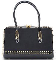 9fdbde281cb2 Женская сумка K-981 black купить женскую красивую каркасную сумку