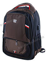 Городской рюкзак HS88113 brown USB  купить городской рюкзак, рюкзак спортивный, фото 1
