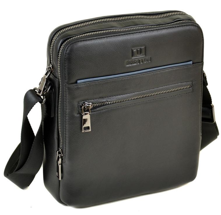 d32eaa815c37 Сумка Мужская Планшет кожаный BRETTON BE 1615-3 black.Купить мужскую  кожаную сумку