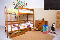 Двухъярусная кровать Дисней 90х200, 2-х ярусная кровать, цвет венге