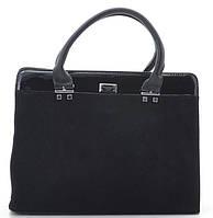 Женская замшевая сумка 881315 черная Женская сумка из натурального замша, фото 1