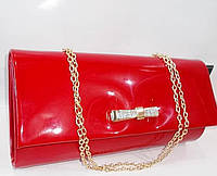 Женский праздничный клатч 261 красный лак купить праздничный клатч, фото 1