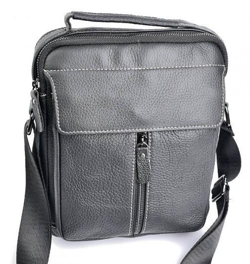 0ba08fed Мужская кожаная сумка 19707 Black мужские сумки из натуральной кожи
