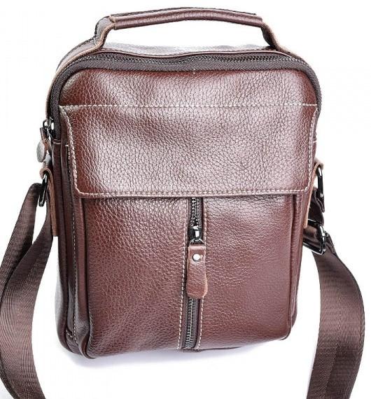 0dee65c5 Мужская кожаная сумка 19707 Brown мужские сумки из натуральной кожи