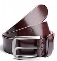 Мужской кожаный ремень 6377 Coffee кожаные мужские ремни