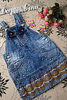 Детский джинсовый сарафан для девочки 5 лет. Турция!Детская джинсовая одежда девочка