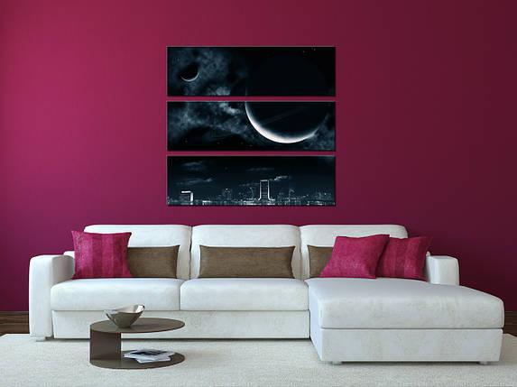 """Модульная картина """"Лунный свет"""", фото 2"""