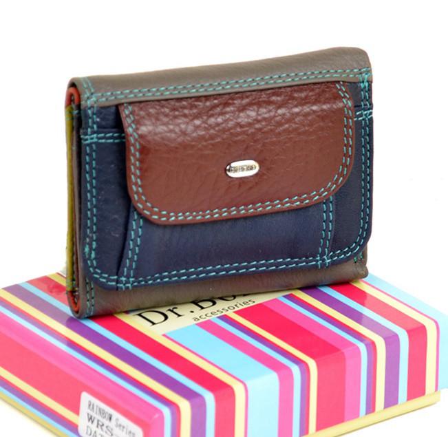 5225a6d84adb Женский кожаный кошелек DR. BOND WRS-7 date-red купить женский кожаный  кошелек